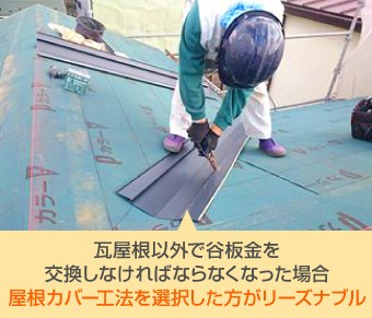 屋根材によってはいったん撤去した屋根材を再利用することは不可能