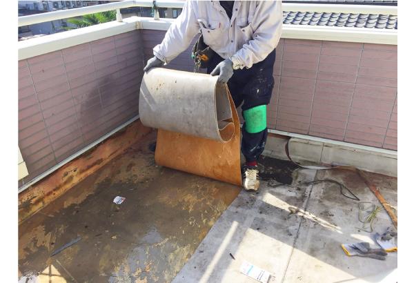 シート防水の撤去