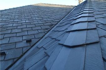 クボタ(現ケイミュー株式会社)のスレート屋根材「アーバニー」を使用した屋根