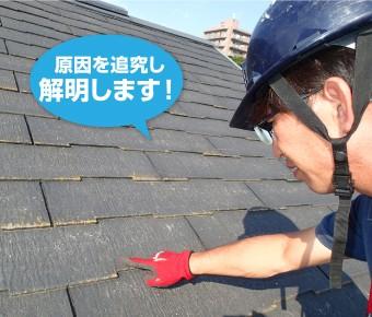 屋根の問題を究明するリフォーム業者