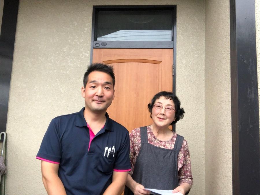 上尾市で火災保険を申請の相談をし、雨樋交換を検討のお客様の声