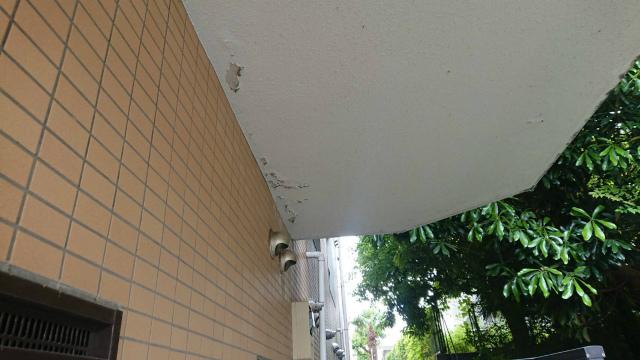 天井塗装剥がれ