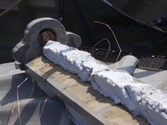 上尾市で屋根瓦の工事
