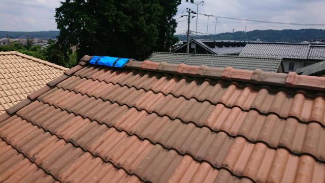 飯能市で瓦屋根のズレを発見!木材の腐食も確認です
