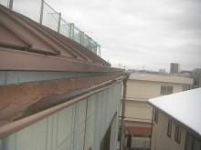 上尾市で雨樋と外壁の現場調査