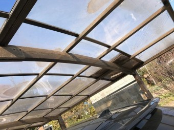 吉見町で屋根の現場調査