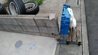 上尾市でブロック塀破損 応急処置