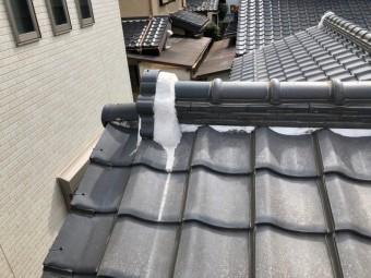 屋根漆喰 剥がれ 上尾