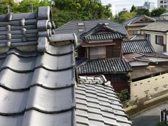 屋根漆喰 剥がれ 写真