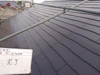 屋根 タスペーサー 施工後