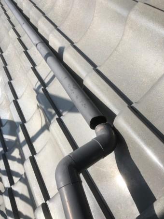 上尾市 雨樋屋根の部分の外れ