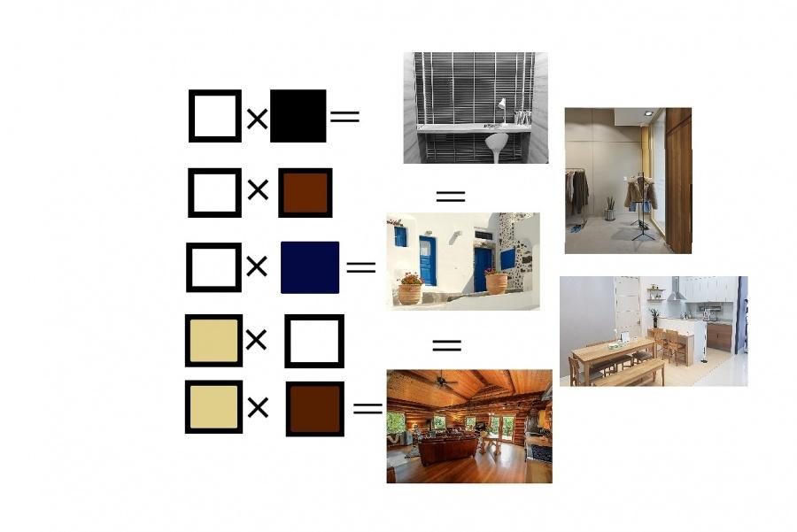 色の組み合わせの写真