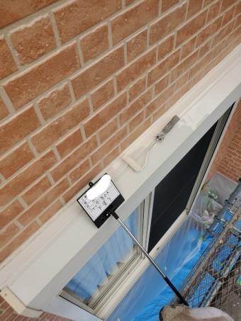 小野寺邸、破風板、樋、上塗り  シャッターBOX下塗り