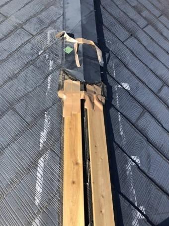 春日部市で屋根棟の修繕工事