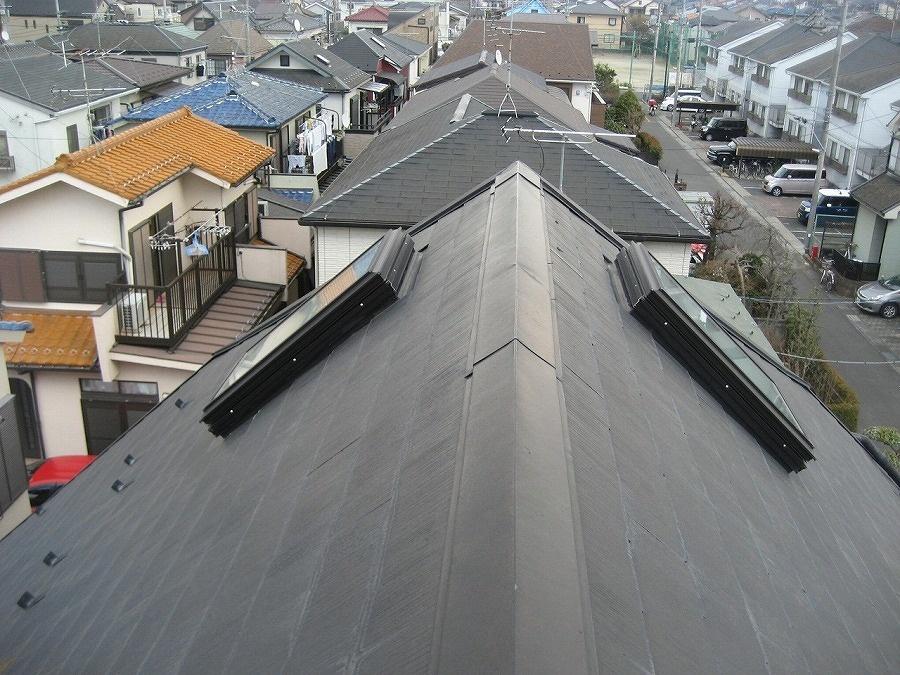 春日部市の屋根棟の現場調査写真