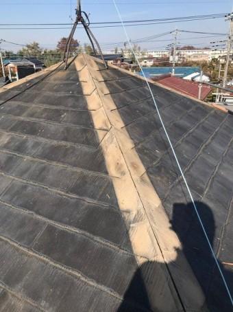 上尾市で棟板金の施工事例