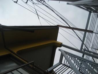 蓮田市で雨樋の現場調査