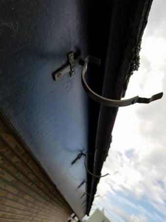 上尾市で施工中の雨樋