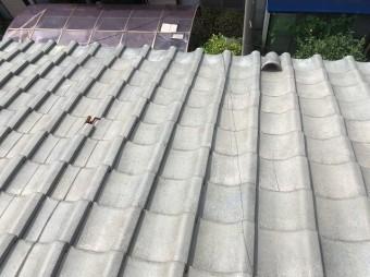 上尾市で屋根崩れの現場調査