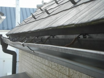上尾市で雨樋の現場調査