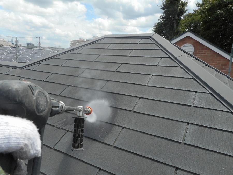 屋根 洗浄中 中央区