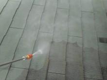 見沼区 屋根洗浄中