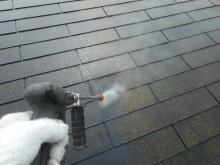 屋根洗浄中 赤さび 越谷市