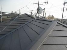 屋根葺き替え 完成 ガルバリウム