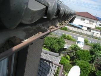 東大和市で雨樋の歪み