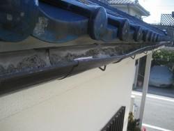 瑞穂町で雨樋の施工前