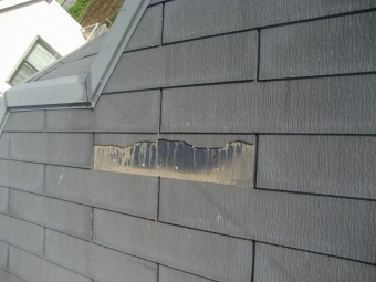 屋根の剥がれの様子写真