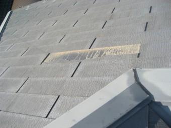 スレート屋根の剥がれ写真