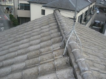桶川市で屋根瓦