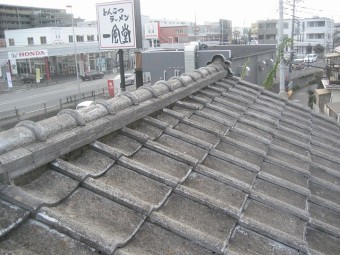 川越市で屋根の現場調査