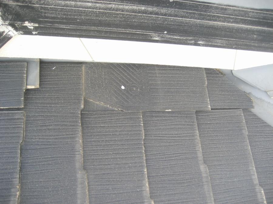 屋根 欠け 写真