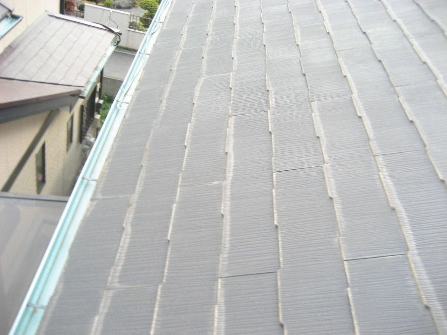 スレート屋根 浮き 写真