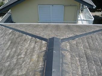 屋根棟板金の現場調査