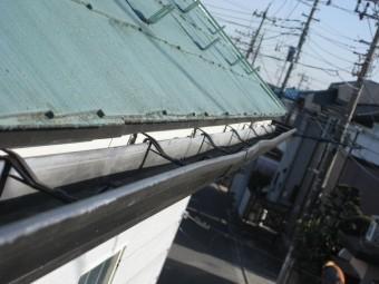 川越市のアパートの雨樋写真②
