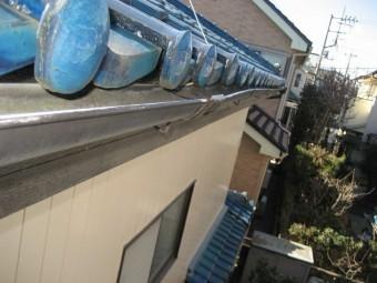 川越市の雨樋写真