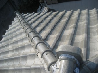瓦屋根 漆喰剥がれ 上尾