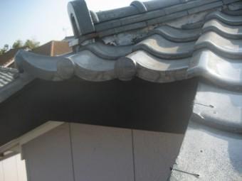 屋根棟 下から 剥がれ
