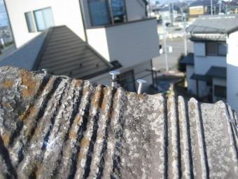 屋根棟 釘浮き 写真