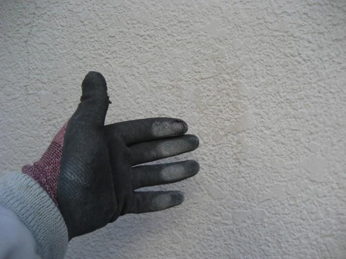 桶川市の外壁チョーキング写真