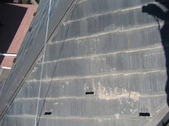 スレート屋根塗装剥がれ写真