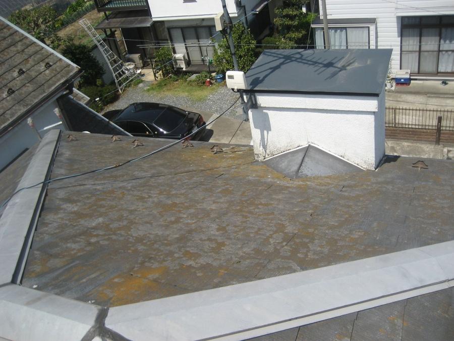 深谷市 屋根 赤さび劣化