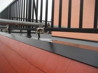 屋上フェンスの塗装
