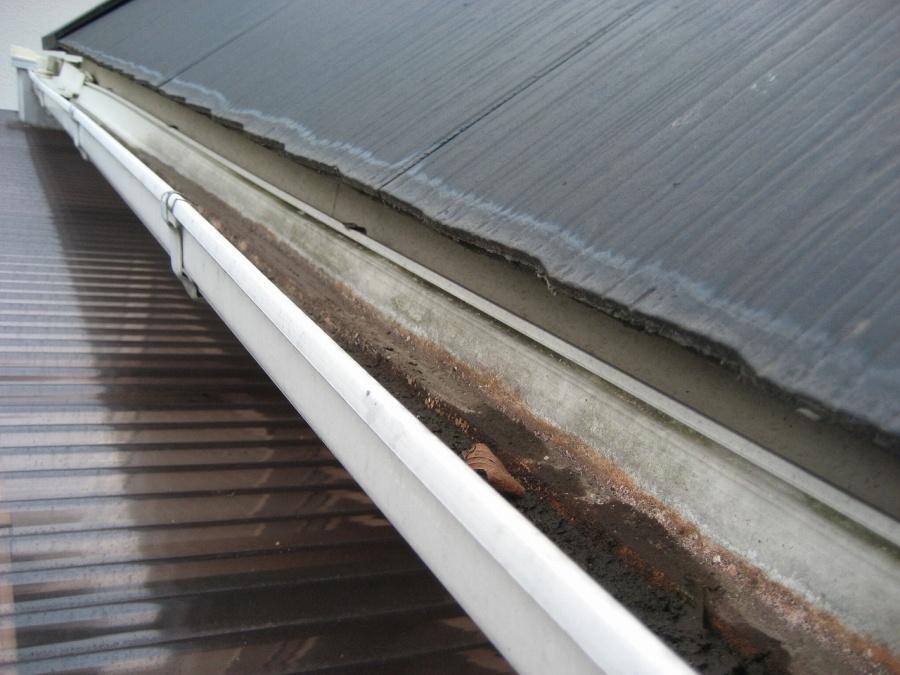 桶川市の雨樋土溜まり写真