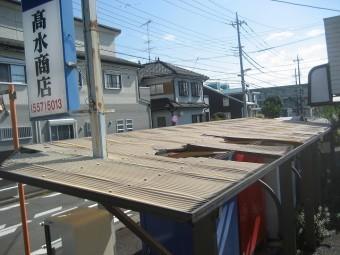 瑞穂町でトタン屋根の施工事例