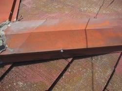 川越市で屋根棟板金の施工事例