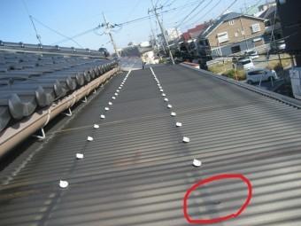トタン屋根の現場調査写真